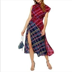 Topshop Dresses - Plaid dress with slit from top shop